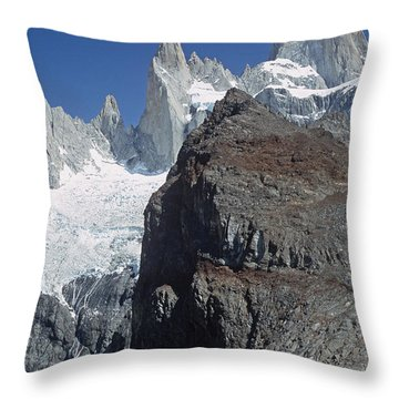 Throw Pillow featuring the photograph Mount Fitzroy Patagonia by Rudi Prott