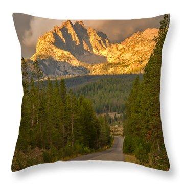 Mount Heyburn Throw Pillow by Robert Bales