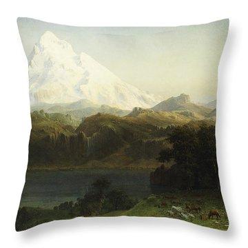 Mount Hood In Oregon Throw Pillow
