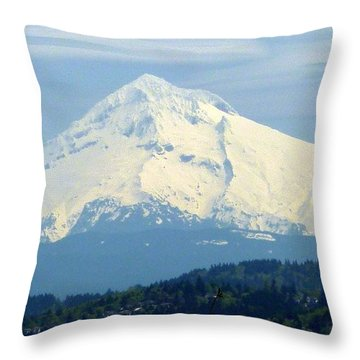 Mount Hood  Throw Pillow by Susan Garren