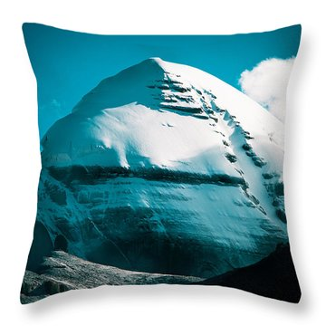 Mount Kailash Home Of The Lord Shiva Throw Pillow