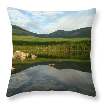 Throw Pillow featuring the photograph Mount Katahdin by Jeannette Hunt