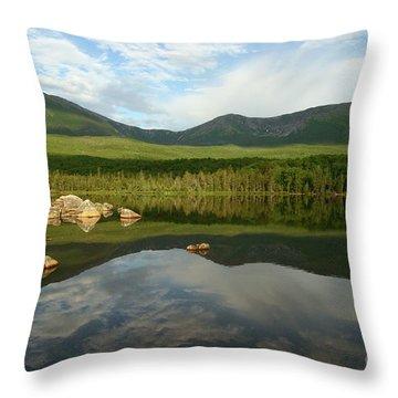 Mount Katahdin Throw Pillow by Jeannette Hunt