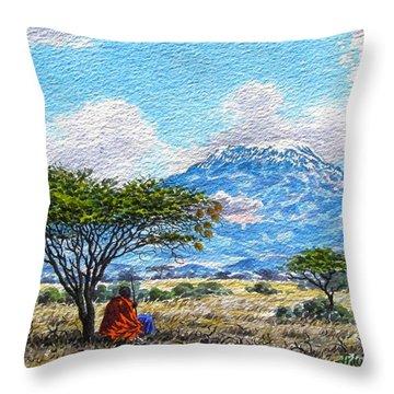 Mount Kilimanjaro Throw Pillow
