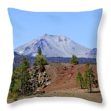 Mount Lassen Throw Pillow