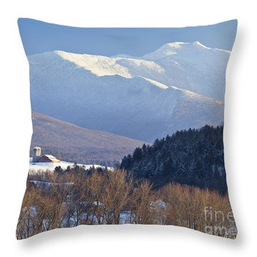 Mount Mansfield Winter Throw Pillow