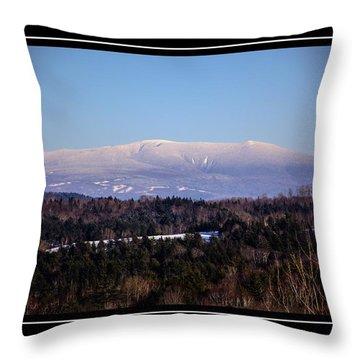 Mount Moosilauke Snowy Blanket Throw Pillow