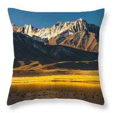 Mount Morrison At Sunrise Throw Pillow