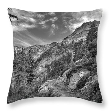 Mount Pilchuck Black And White Throw Pillow