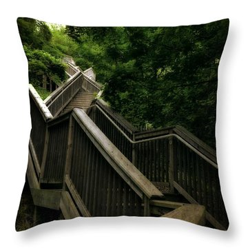 Mount Pisgah Stairs Throw Pillow