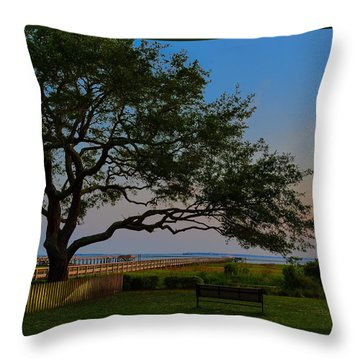 Mount Pleasant Sunset Throw Pillow