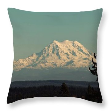 Throw Pillow featuring the photograph Mount Rainier by Patricia Strand