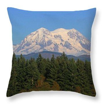 Throw Pillow featuring the photograph Mount Rainier Washington by Tom Janca