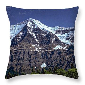 Mount Robson Throw Pillow by Richard Farrington