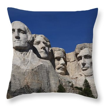Mount Rushmore Throw Pillow by Frank Romeo