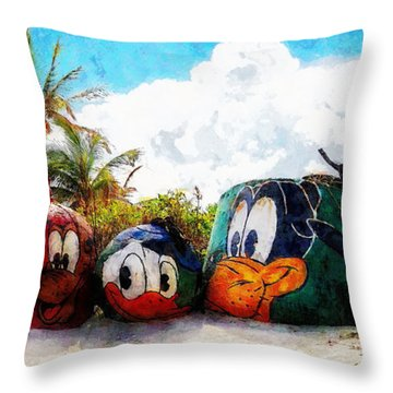 Mount Rustmore Castaway Cay Throw Pillow by Sandy MacGowan