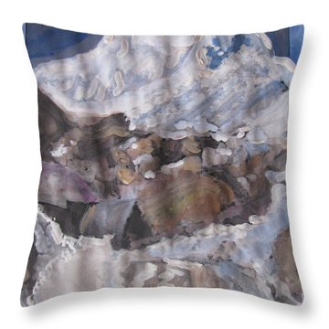 Mount Shivling Throw Pillow