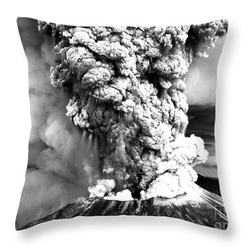 Mount St Helens Eruption Throw Pillow by Usgs