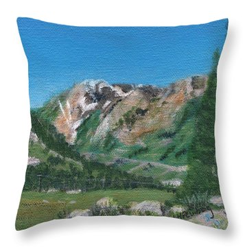 Mount Superior Throw Pillow