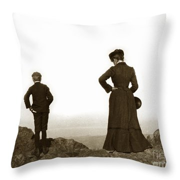 Throw Pillow featuring the photograph Mount Tamalpais Marin County California Circa 1902 by California Views Mr Pat Hathaway Archives