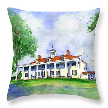 Mount Vernon Front Throw Pillow