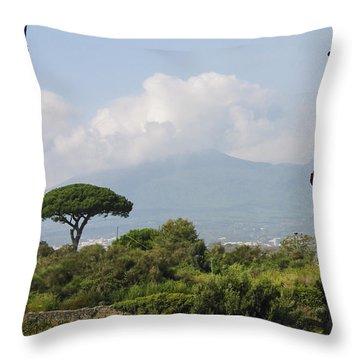Mount Vesuvius Throw Pillow by Adam Romanowicz