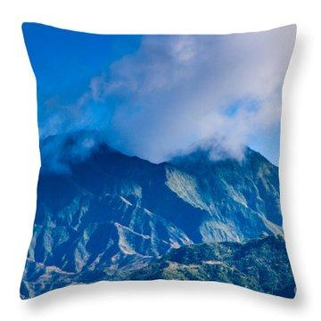 Mount Wai'ale'ale  Throw Pillow