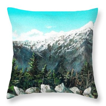 Mount Washington Throw Pillow by Shana Rowe Jackson