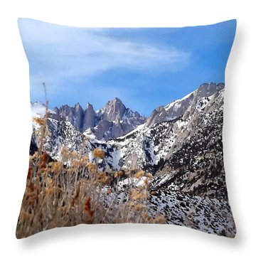 Mount Whitney - California Throw Pillow by Glenn McCarthy Art and Photography
