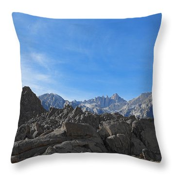 Mount Whitney From Alabama Hills Throw Pillow