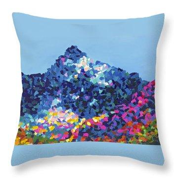Mountain Abstract Jasper Alberta Throw Pillow by Joyce Sherwin