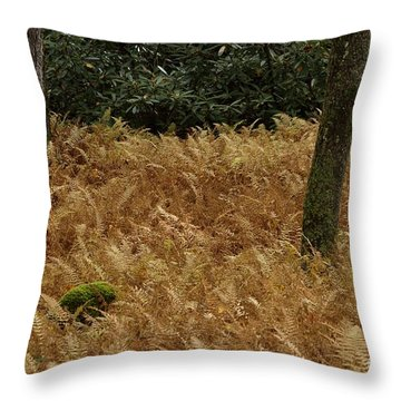 Throw Pillow featuring the photograph Mountain Carpet by Randy Bodkins