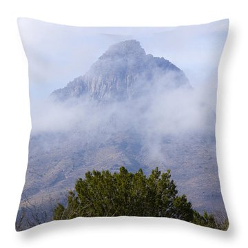 Mountain Cloaked Throw Pillow
