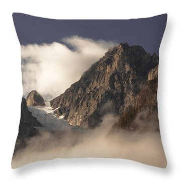 Mountain Clouds Throw Pillow
