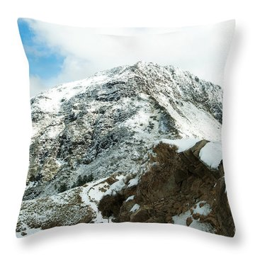 Mountain Covered With Snow Throw Pillow