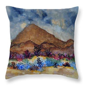 Mountain Desert Scene Throw Pillow