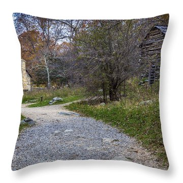 Mountain Farm Throw Pillow