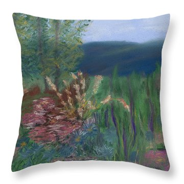 Mountain Garden Throw Pillow by Dana Strotheide