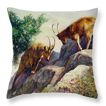 Mountain Goats - Powerful Fight  Throw Pillow