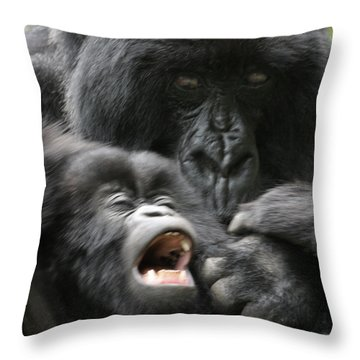 Mountain Gorilla Adf2 Throw Pillow