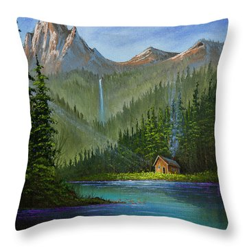 Mountain Haven Throw Pillow by C Steele
