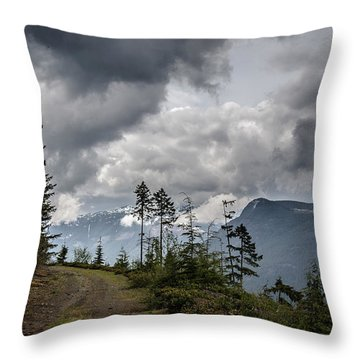 Mountain High Back Roads Throw Pillow