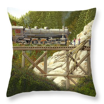 Mountain Impasse Throw Pillow