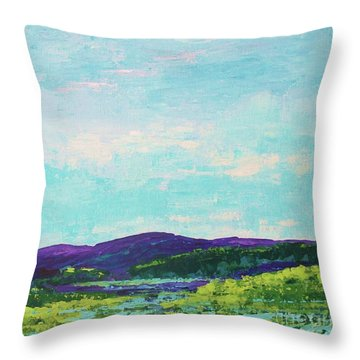 Mountain Lake Throw Pillow by Gail Kent