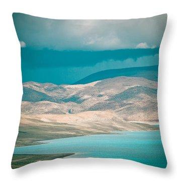 Mountain Lake In Tibet Peiku-tso Throw Pillow