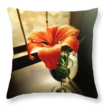Mountain Lily Throw Pillow