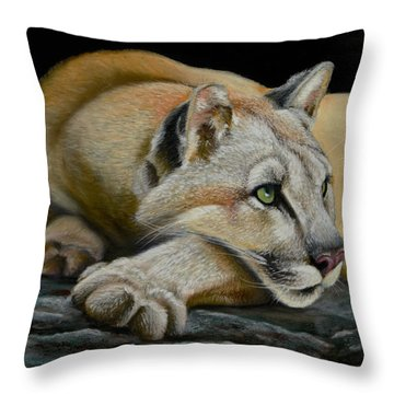 Mountain Lion Throw Pillow