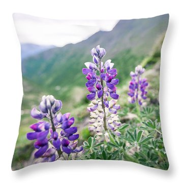 Mountain Lupine Throw Pillow