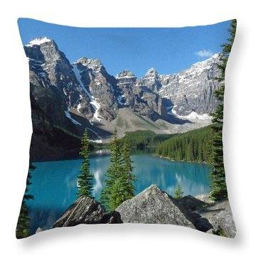 Throw Pillow featuring the photograph Mountain Magic by Alan Socolik