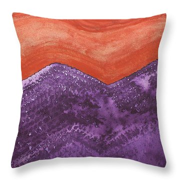 Mountain Majesty Original Painting Throw Pillow